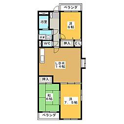 ベルビレッジ宿地[2階]の間取り