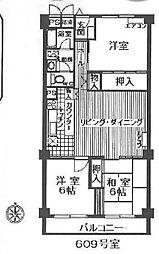 日商岩井上甲子園マンション[6階]の間取り