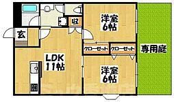 福岡県福岡市東区和白6丁目の賃貸マンションの間取り