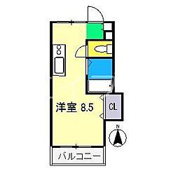 パームハイツ[3階]の間取り
