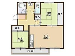 浅香山住宅11棟[5階]の間取り