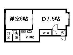 北海道札幌市清田区清田一条2丁目の賃貸アパートの間取り
