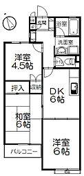 ピースフル湘南B棟[2階]の間取り