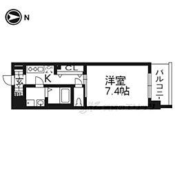 レジデンス京都ゲートシティ503 5階1Kの間取り