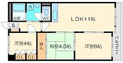 第2グランドハイツ太田[4階]の間取り