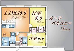 リーガル新神戸パークサイド[7階]の間取り