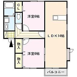 ビューカトレアII[1階]の間取り