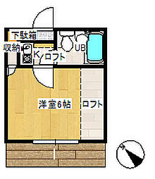 リバーサイド吉川B[103号室]の間取り