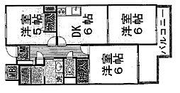 リバーサイド香枦園[707号室]の間取り