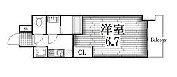 プレサンス名古屋STATIONルミアス[3階]の間取り