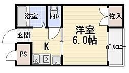 ハイツオークス[2階]の間取り