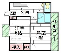 GS関大前[2階]の間取り