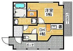 リーフジャルダン・レジデンスタワー[705号室号室]の間取り