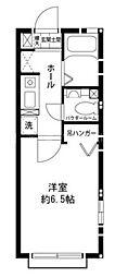 神奈川県横浜市瀬谷区本郷3丁目の賃貸アパートの間取り