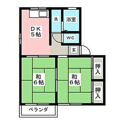 シティハイムヤナギハラ[1階]の間取り