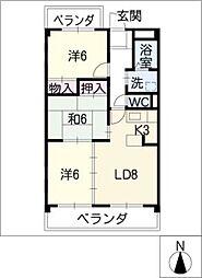 シャンポールKitou[1階]の間取り