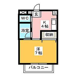 ハイツTao[2階]の間取り