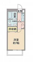 JR中央本線 国分寺駅 徒歩11分の賃貸アパート 2階1Kの間取り