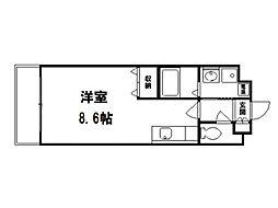 ランブラス衣笠[3階]の間取り