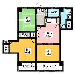 ブルーメンハウス[4階]の間取り