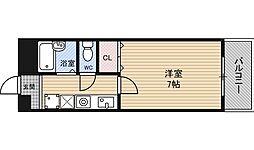 フレアコート北野[6階]の間取り