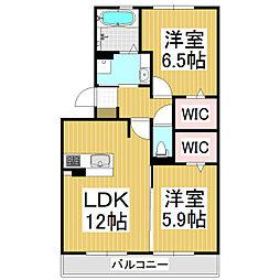 (仮)野溝西1丁目D-room B棟[1階]の間取り