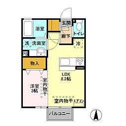 ミルアモール B[2階]の間取り