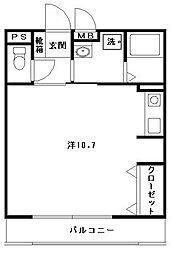 福岡県北九州市小倉北区新高田1丁目の賃貸マンションの間取り