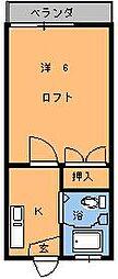 インペリアルエスケイ1[202号室]の間取り