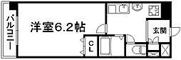 京都府京都市下京区因幡堂町の賃貸マンションの間取り