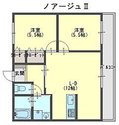 ノアージュ2[1階]の間取り