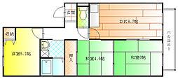 ベルウィング藤井寺[1階]の間取り