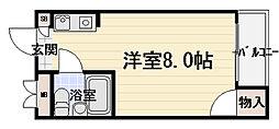 ロータリーマンション西三荘[4階]の間取り