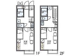 レオパレス砂郷III[1階]の間取り