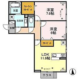 (仮)D-room元町[301号室]の間取り