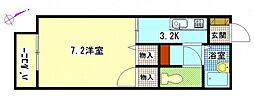 F・ステージ緑井[1階]の間取り