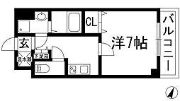 GROOVE川西多田[5階]の間取り
