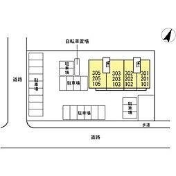 仮)D-room初馬[1階]の外観