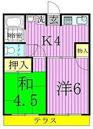 シティハイムアルプスA[2階]の間取り