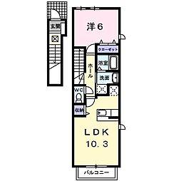 [大東建託]グランツエアリーII[2階]の間取り