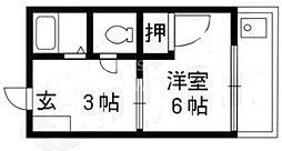 サニーコーポ岡崎[207号室号室]の間取り