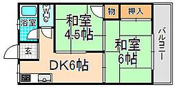 兵庫県伊丹市北本町2丁目の賃貸マンションの間取り