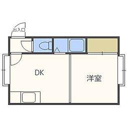 クルーズハウス琴似3条[2階]の間取り