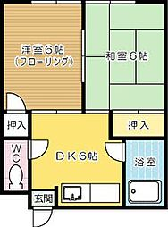 和気第一アパート[203号室]の間取り
