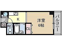 シャトー黒田[6階]の間取り
