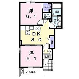 グレース3[1階]の間取り