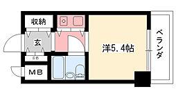朝日プラザ甲子園[404号室]の間取り