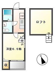 愛知県名古屋市守山区鳥羽見1の賃貸アパートの間取り