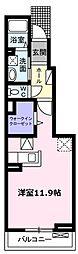 愛知県名古屋市緑区鳴海町字細根の賃貸アパートの間取り