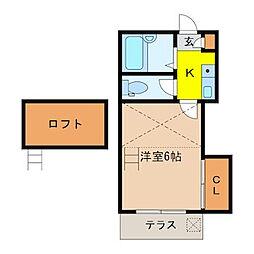 メゾンシマヅ[109号室]の間取り